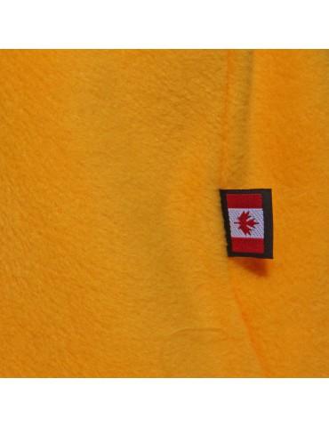 Cagoule polaire femme coloris jaune made in Canada