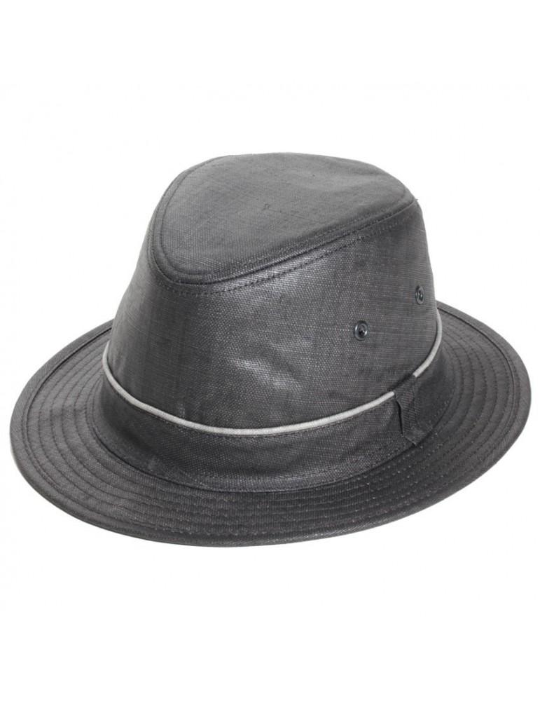 chapeau pluie lin gris anthracite