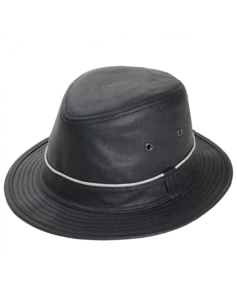 chapeau pluie lin noir