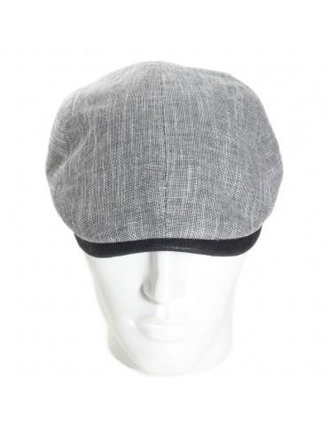 casquette d'été en lin et coton gris