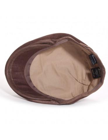 casquette en lin coloris marron doublée coton