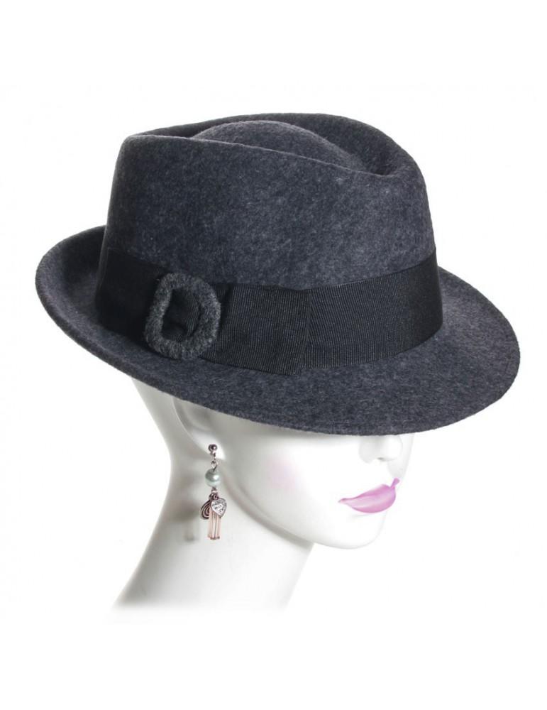 chapeau feutre femme coloris gris