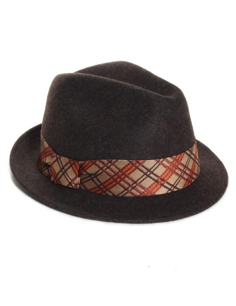 chapeau feutre femme coloris marron