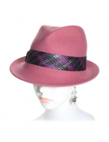 chapeau feutre femme rose