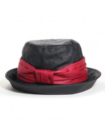 Chapeau Arzhela noir/rouge...