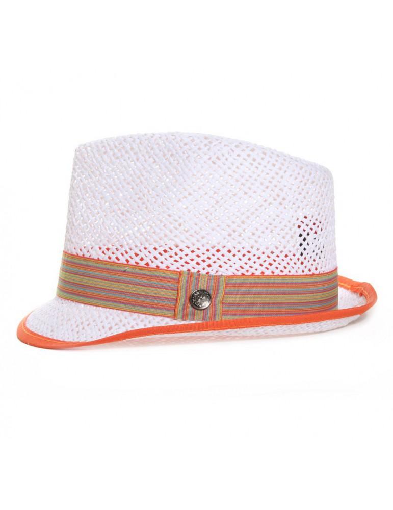 chapeau paille enfant coloris blanc
