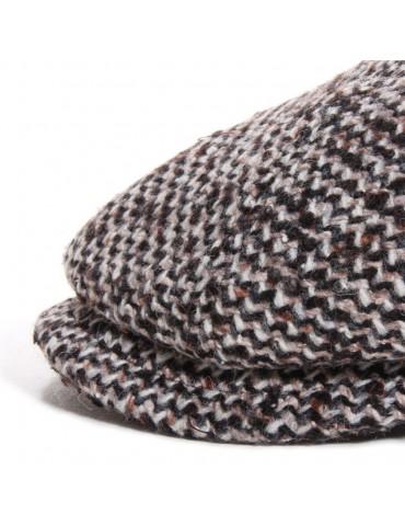 casquette gavroche tweed marron