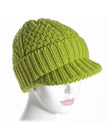 bonnet casquette vert anis