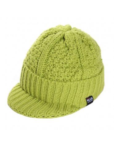bonnet visière vert anis