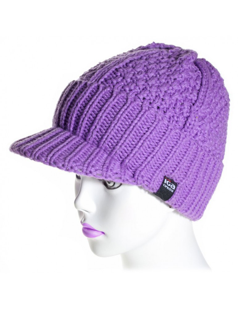 bonnet casquette coloris parme