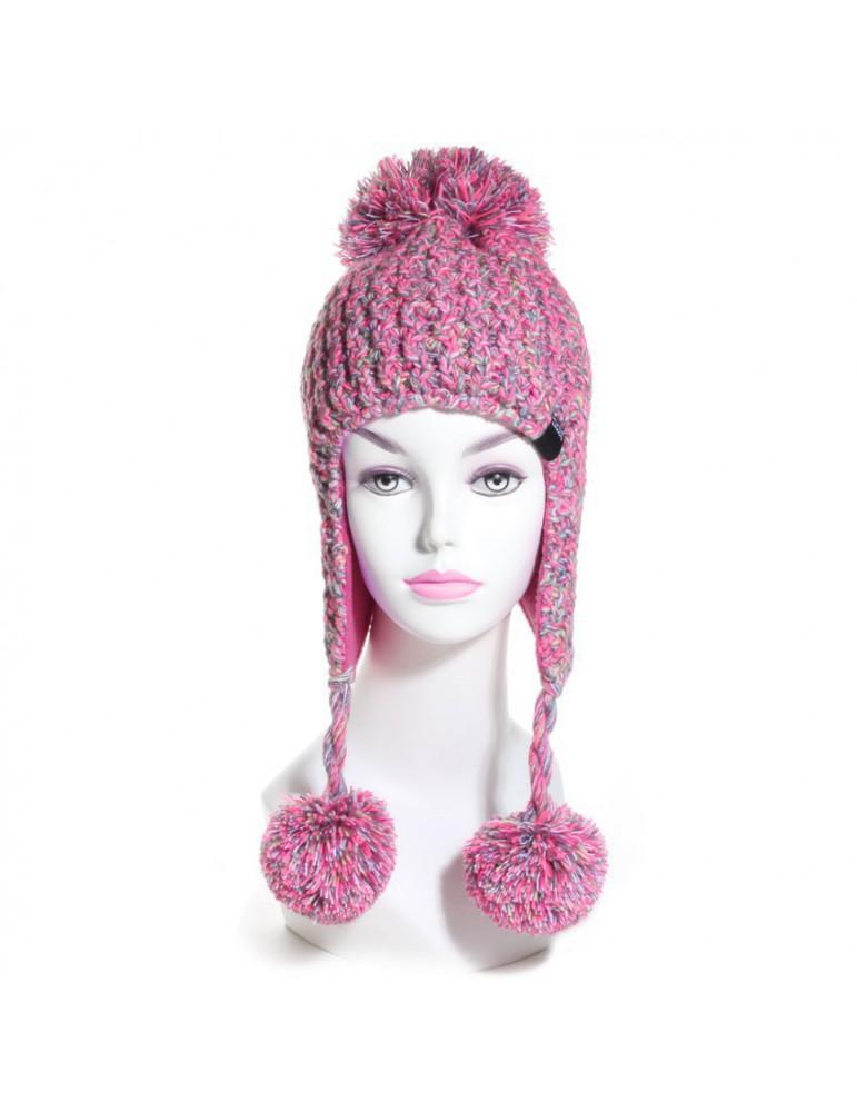 bonnet péruvien coloris rose