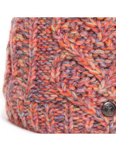maille laine orange multicolore