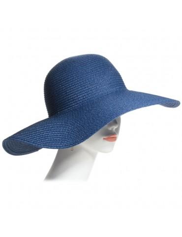 capeline paille bleue