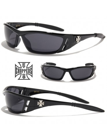 lunettes de soleil monture fine et logo croix de Malte
