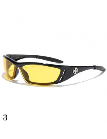 lunette de soleil vision jaune monture noir