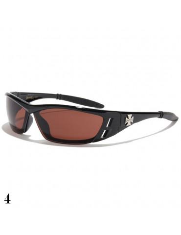 lunette de soleil vision marron monture noir