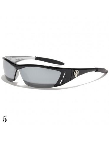 lunette de soleil lentille miroir vision noir monture noir brillant et gris