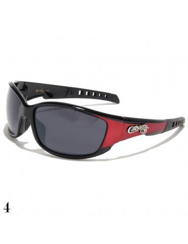 lunette de soleil sport et monture rouge