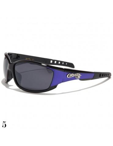 lunette de soleil sport et monture bleue