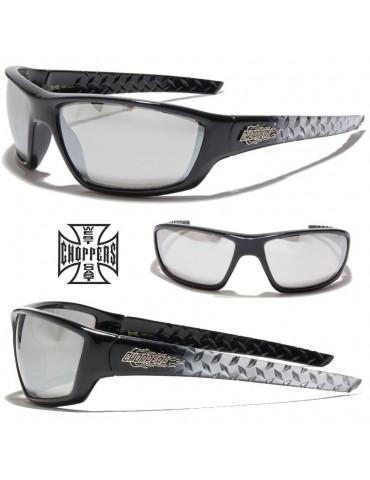 lunettes de soleil monture bicolore et logo Choppers