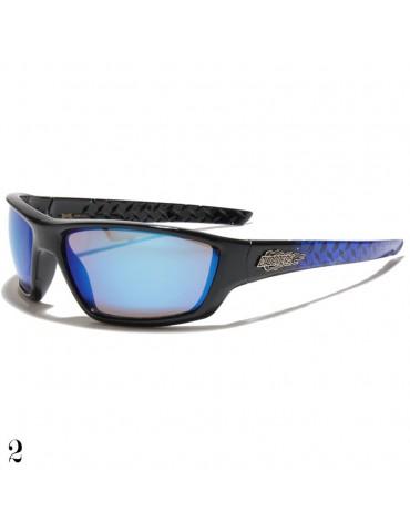 lunette de soleil monture bleue
