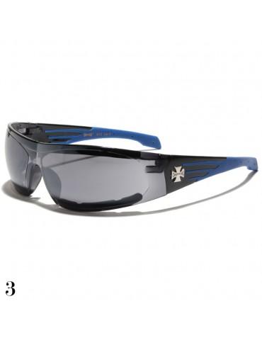 lunette de soleil monture noir et bleu