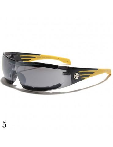 lunette de soleil monture noir et jaune