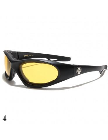 lunette de soleil vision jaune monture noir mat