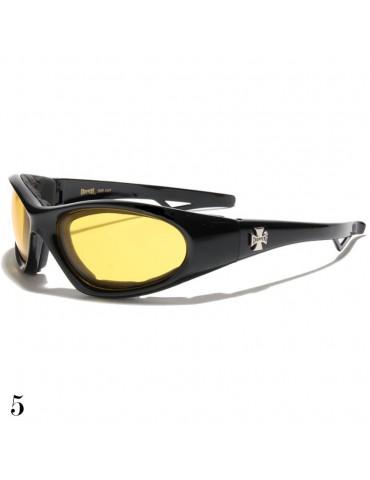 lunette de soleil vision jaune monture noir brillant