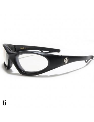 lunette de soleil vision blanche monture noir mat