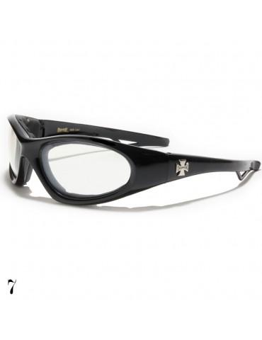 lunette de soleil vision blanche monture noir brillant