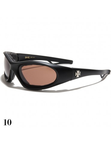 lunette de soleil vision marron monture noir mat