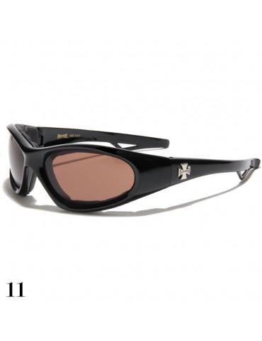 lunette de soleil vision marron monture noir brillant