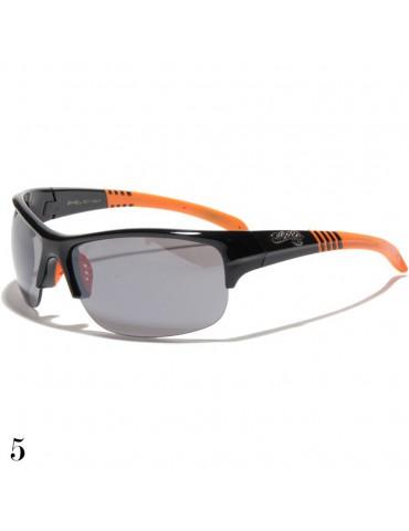 lunette de soleil monture noir et orange