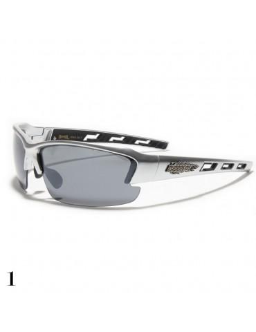 lunettes de soleil monture grise argent