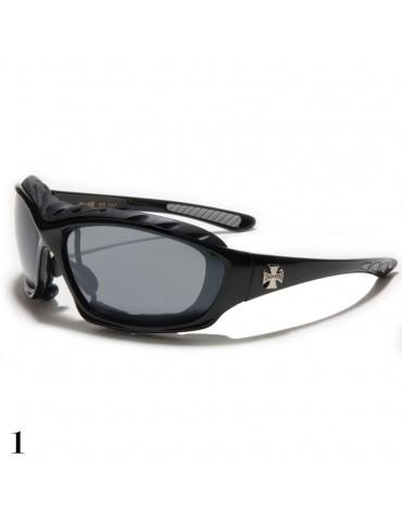 lunettes de soleil avec croix de Malte