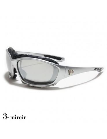 lunettes de soleil grise argent