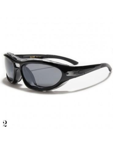 lunettes de soleil avec flamme grise