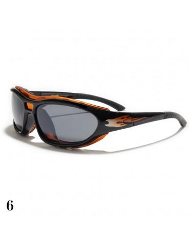 lunettes de soleil avec flamme orange