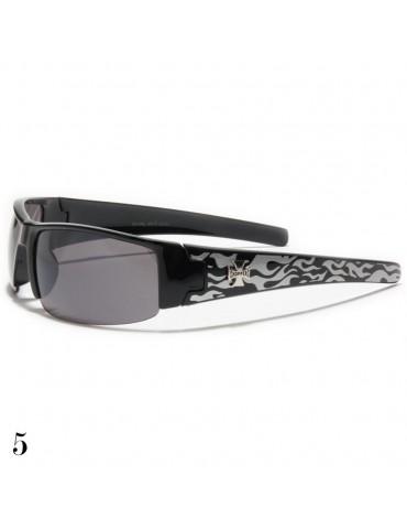 lunettes de soleil flamme grise argent