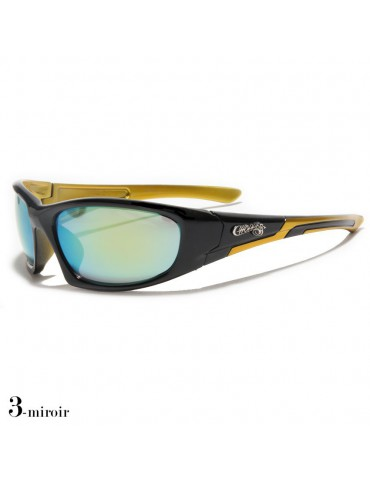 lunettes de soleil monture noir et jaune