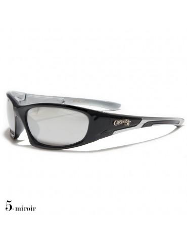 lunettes de soleil monture noir et grise