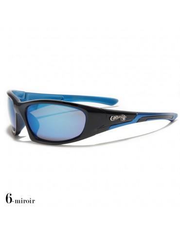 lunettes de soleil monture noir et bleue