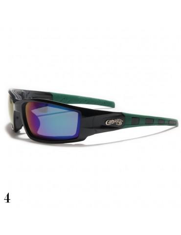 lunettes de soleil monture noir et vert