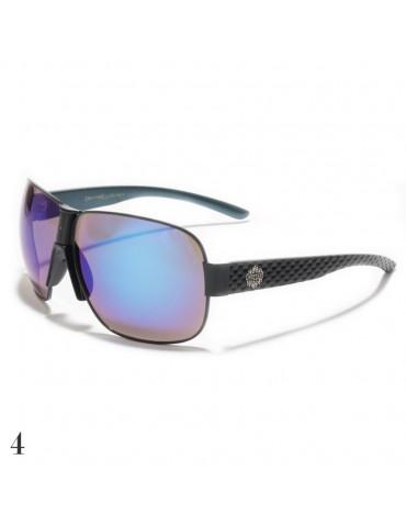 lunettes de soleil lentilles bleutés vision marron