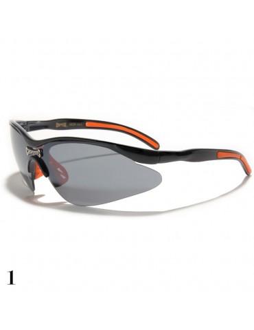 lunettes de soleil monture noir et orange
