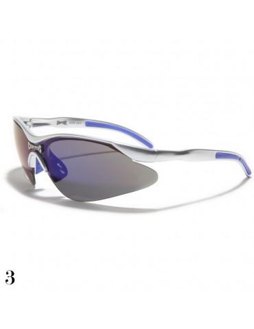 lunettes de soleil monture grise et violet