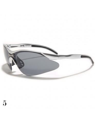 lunettes de soleil monture grise et noir