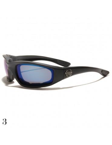 lunettes de soleil vision bleue