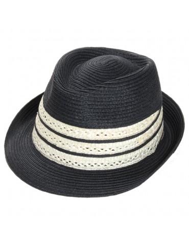 chapeau paille noir